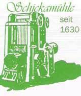 Die Schickamühle seit 1630